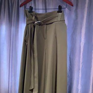 NY&co Paperbag palazzo pants sz 10